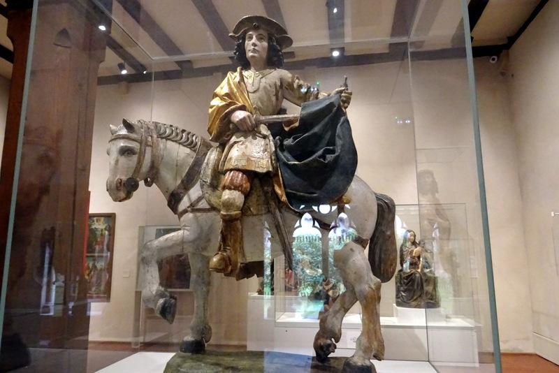 Statue de saint Martin au musée Unterlinden de Colmar